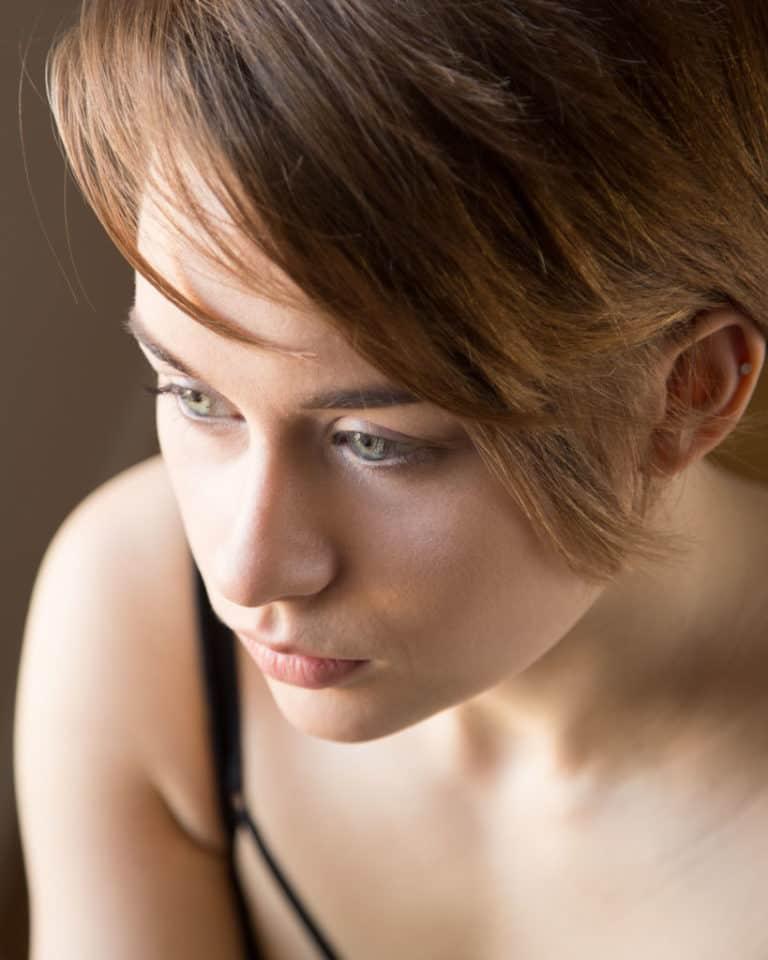model headshot from creative portrait photographer london Martin Lea