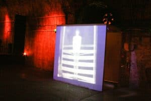 Art installation: early photography at Shunt vaults by photographer Martin Lea